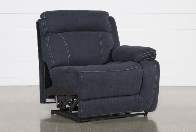 Levi Right Arm Facing Power Layflat Recliner With Power Headrest And Usb - 360