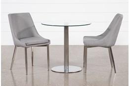 Braun 3 Piece Dining Set With Bowery II Chairs