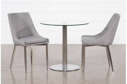 Braun 3 Piece Dining Set With Bowery II Chairs