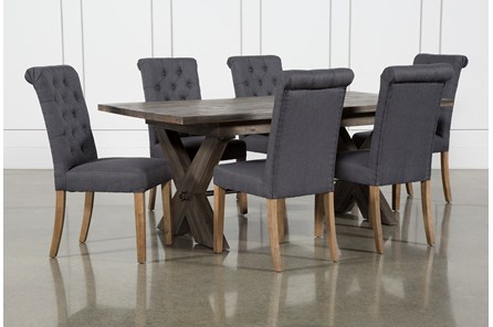 Mallard Extension 7 Piece Dining Set With Lowes Side Chairs - Main