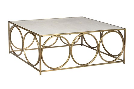 White + Gold Coffee Table