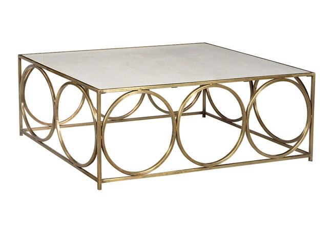 White + Gold Coffee Table  - 360