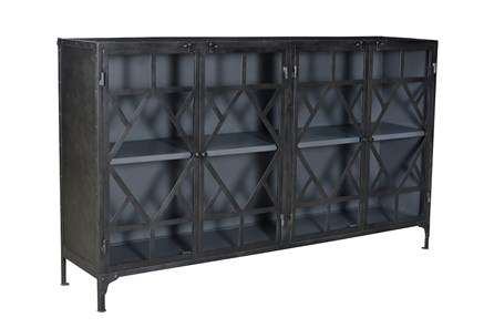 Black Metal + Black Sideboard