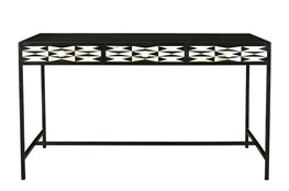 Black + White Bone Inlay Desk