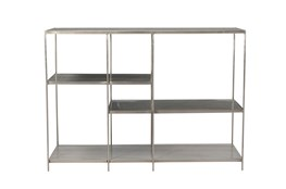 Gray Metal Multi Level Bookcase