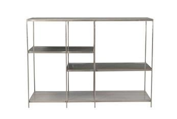 Gray Metal Multi Level Bookcase