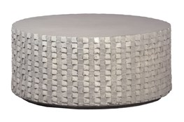 Round White Cement Coffee Table