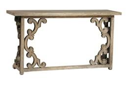 Grey Mindi Wood Console Table