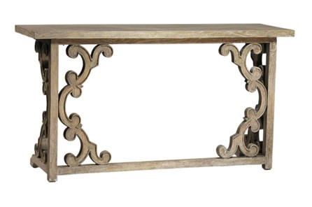 Grey Mindi Wood Console Table