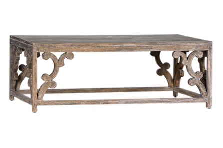 Antique Mindi Wood Coffee Table
