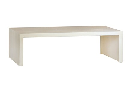 White Waterfall Coffee Table