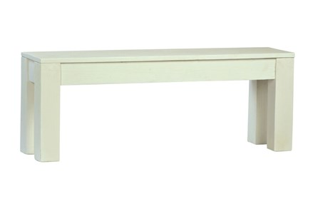 White Dining Bench - Main