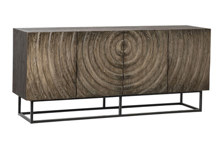 Gray Wash 3 Dimensional Sideboard