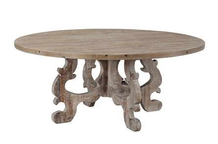 Distressed Pine Round Dining Table