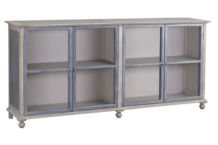 White + Grey Glass Door Sideboard