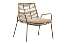 Natural Woven Dining Chair With Cushion