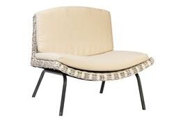 Natural Woven Armless Chair