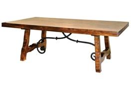 Natural Wood + Metal Coffee Table
