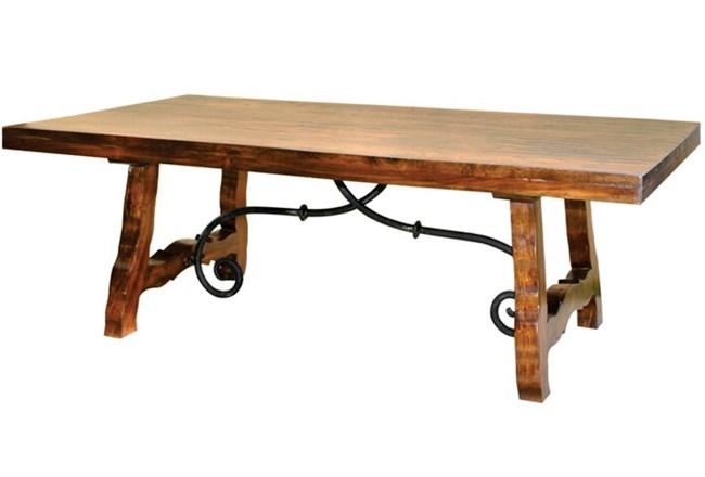Natural Wood + Metal Coffee Table  - 360