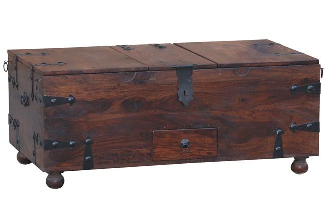 Dark Wood Barbox Coffee Table  - 360