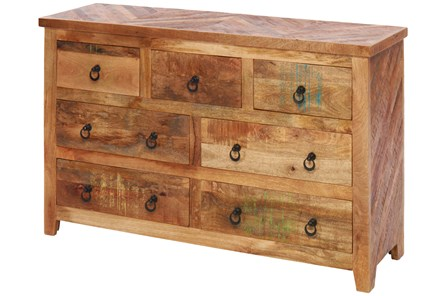 Reclaimed Wood Multi Drawer Dresser
