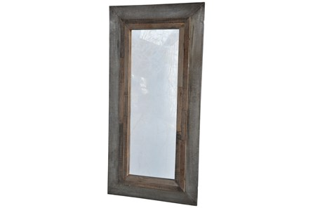 Vintage Cement Finish Mirror