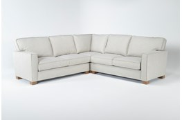Magnolia Home Dweller Homespun Sterling 3 Pc Sectional By Joanna Gaines
