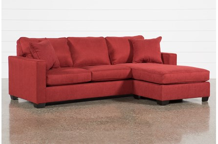 Egan II Red Sofa W/Reversible Chaise | Living Spaces