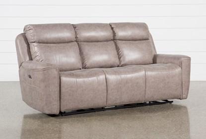 Fabulous Valentin Latte Power Reclining Sofa With Power Headrest Usb Ibusinesslaw Wood Chair Design Ideas Ibusinesslaworg