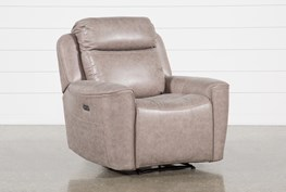 Valentin Latte Power Recliner With Power Headrest & Usb