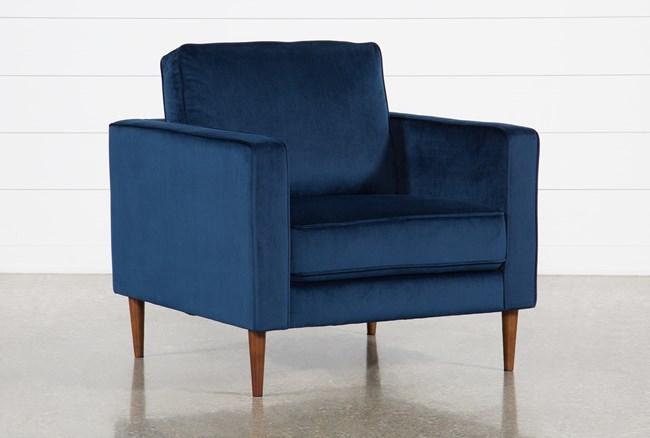 Fairfax Denim Velvet Chair - 360