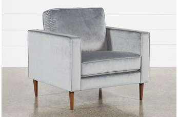 Fairfax Steel Grey Velvet Chair