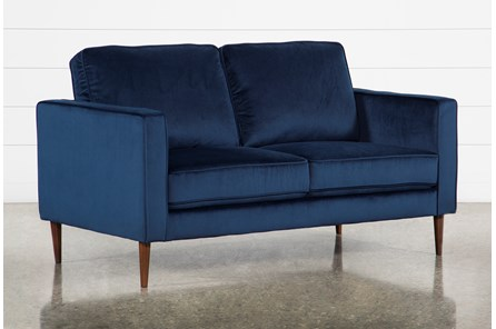 Fairfax Denim Velvet Loveseat