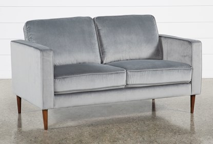 Marvelous Fairfax Steel Grey Velvet Loveseat Andrewgaddart Wooden Chair Designs For Living Room Andrewgaddartcom