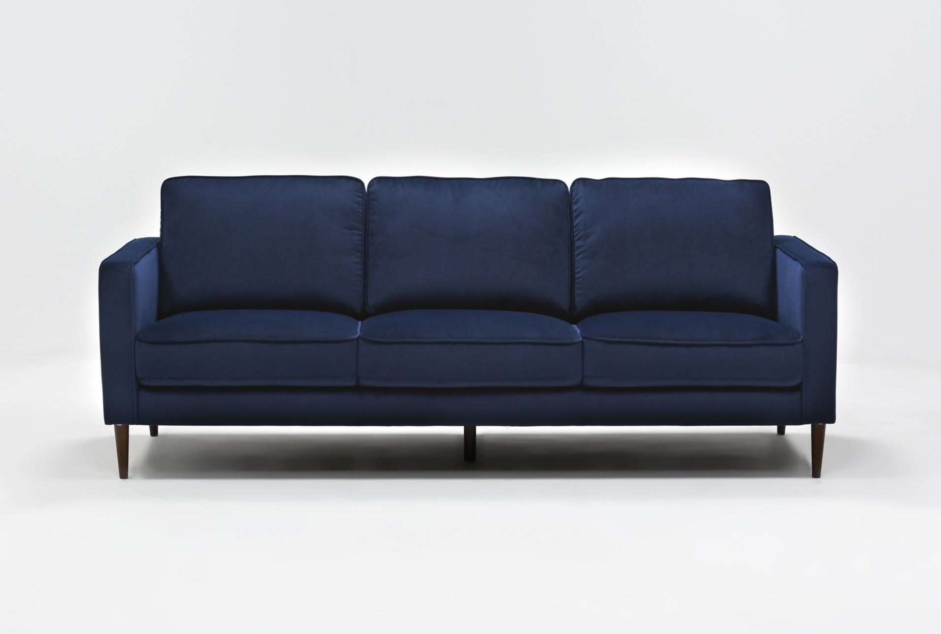 Super Fairfax Denim Velvet Sofa Gmtry Best Dining Table And Chair Ideas Images Gmtryco