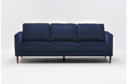 Fairfax Denim Velvet Sofa