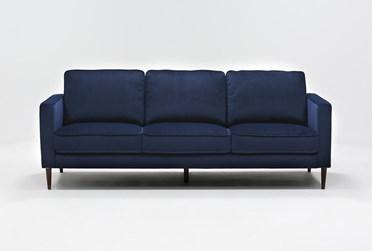 "Fairfax Denim Velvet 90"" Sofa"