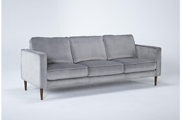 Fairfax Steel Grey Velvet Sofa