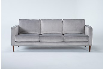 Fairfax Steel Grey Velvet Sofa