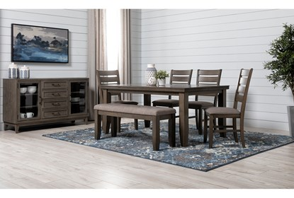 Ashford Ii 7 Piece Dining Set With Bowery Chairs