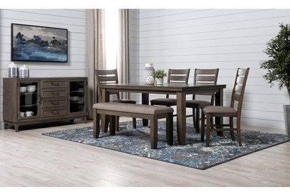 Ashford Ii 5 Piece Dining Set With Delta Bronze Chairs Living Spaces