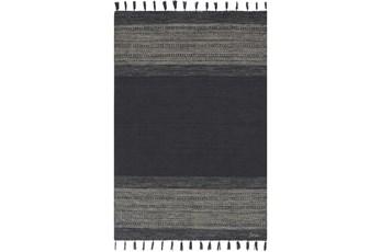 27X45 Rug-Black Tassel Edge