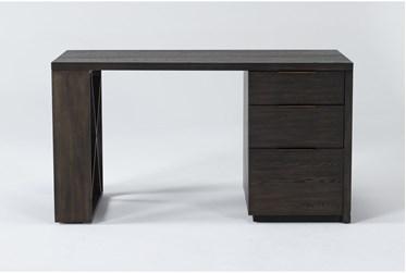 Pierce Espresso Pedestal Desk