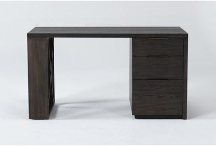 Pierce Espresso Pedestal Desk - Main