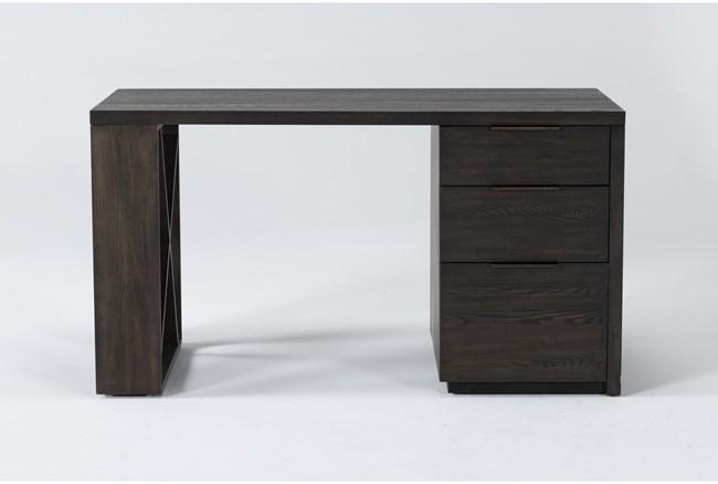 Pierce Espresso Pedestal Desk - 360