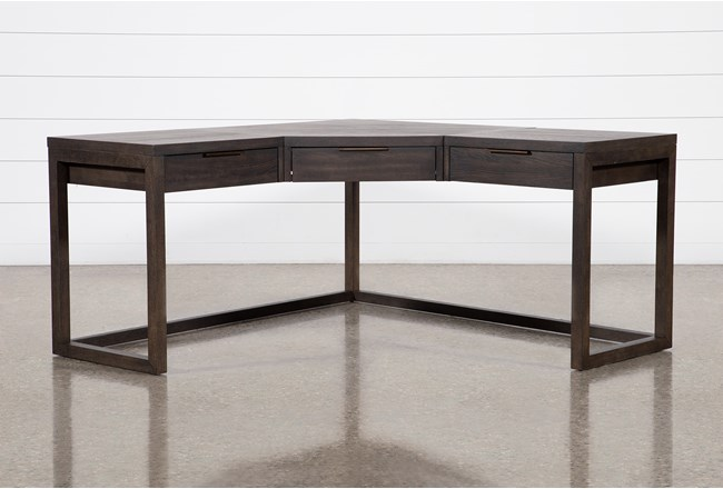 Pierce Black Corner Desk - 360