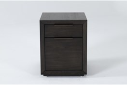 Pierce Espresso Mobile Filing Cabinet With 2 Drawers