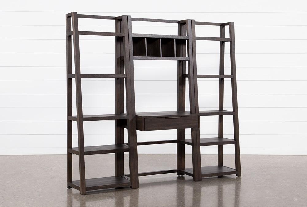 Pierce Black 3 Piece Wall Desk