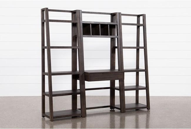 Pierce Black 3 Piece Wall Desk  - 360