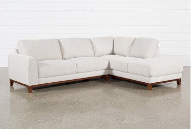 """Amherst Cobblestone 2 Piece 114"""" Sectional With Right Arm Facing Chaise"""